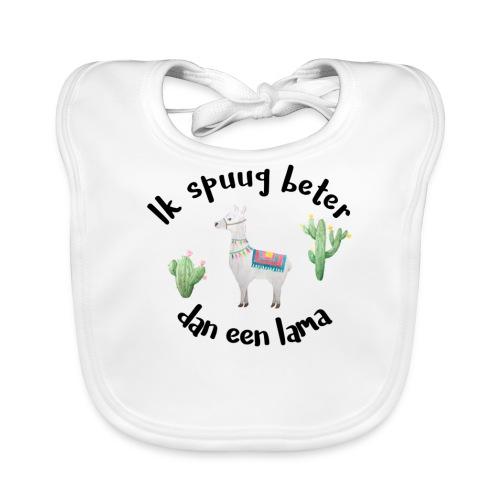 Ik Spuug Beter Dan Een Lama - Bio-slabbetje voor baby's