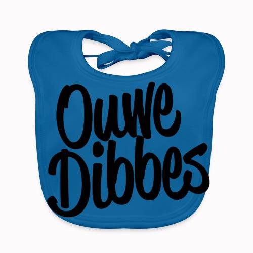 Ouwe Dibbes Zwart - Bio-slabbetje voor baby's