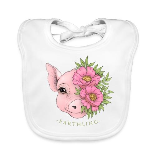 Earthling Pig - Ekologisk babyhaklapp