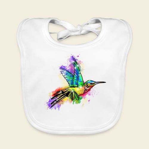 Farbexplosion Kolibri - Baby Bio-Lätzchen