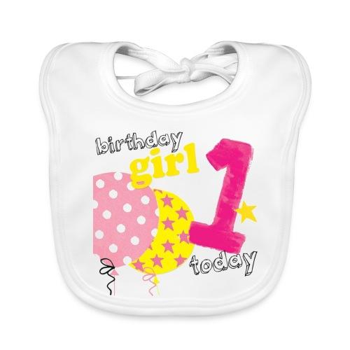 1 today birthday girl - Baby Organic Bib