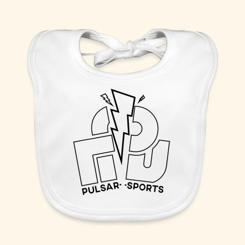 Lightning Striking through Team-Pulsar logo - Baby Organic Bib