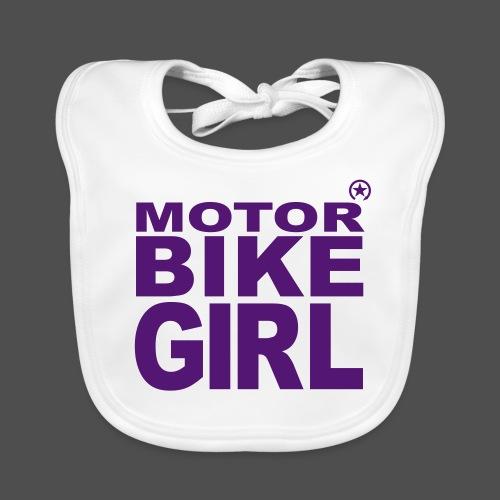 Dziewczyna motocykl - Ekologiczny śliniaczek