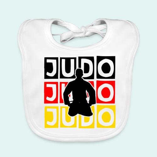 Judo Motiv Schwarz Rot Gold - Baby Bio-Lätzchen