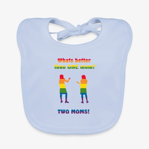 Två mammor - Pride - Ekologisk babyhaklapp