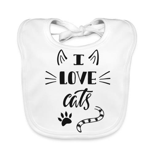 I love cats - Baby Bio-Lätzchen