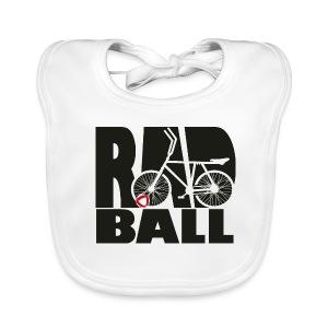 Radball | Typo Black - Baby Bio-Lätzchen