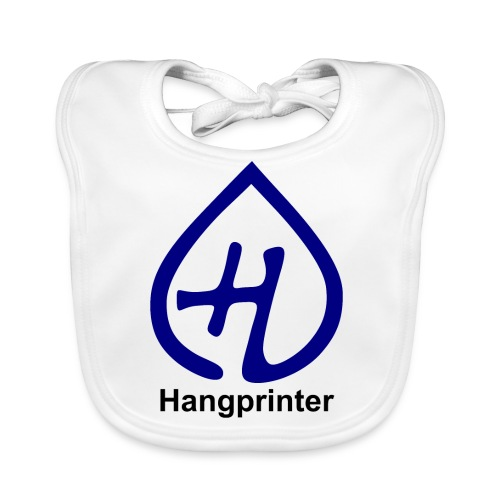 Hangprinter logo and text - Ekologisk babyhaklapp