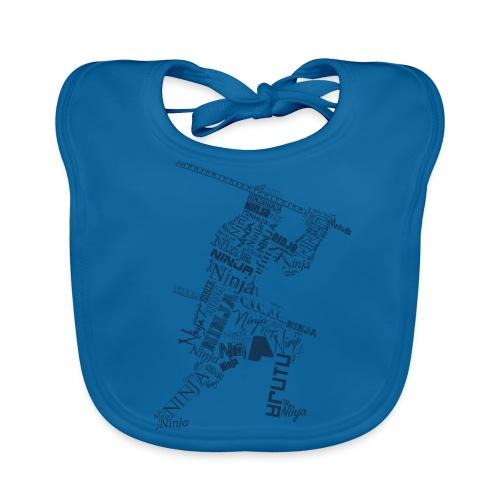 Typo-Ninja-Blue - Baby Bio-Lätzchen