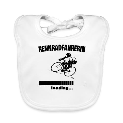 Rennradfahrerin loading... Baby Motiv - Baby Bio-Lätzchen