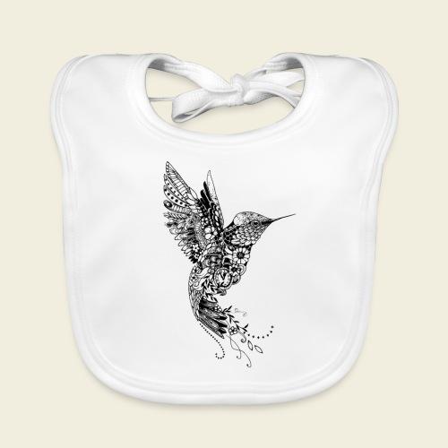 Großer Design-Kolibri - Baby Bio-Lätzchen