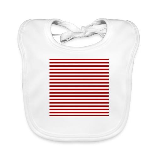 lineas_rojas - Babero ecológico bebé