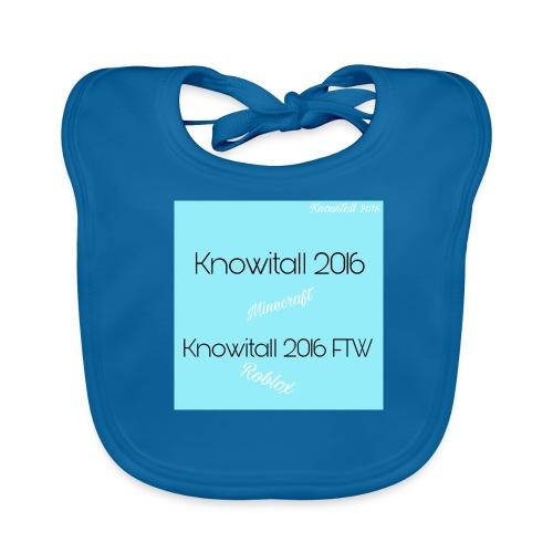 Knowitall 2016 & Knowitall 2016 FTW Custom Clothes - Baby Organic Bib