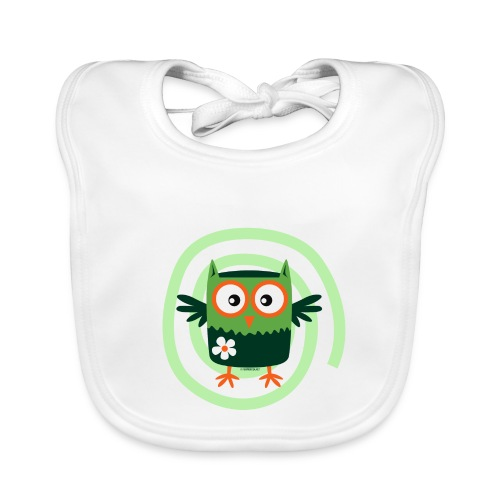 FP10-56 FLOWER OWL - TEXTILE AND GIFT PRODUCTS - Vauvan ruokalappu