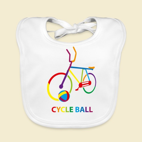 Radball | Cycle Ball Rainbow - Baby Bio-Lätzchen