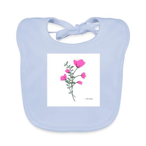 fleure violette - Bavoir bio Bébé