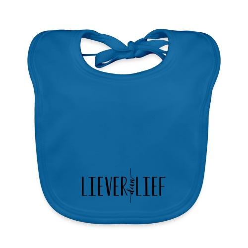 Liever dan Lief logo - Bio-slabbetje voor baby's