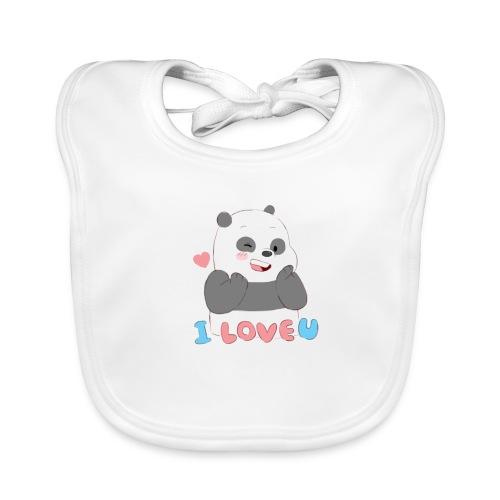 Panda Ilove you - Babero ecológico bebé