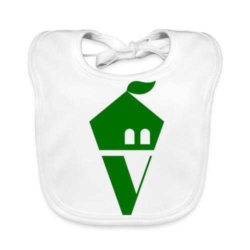 Villekula Logo in Grün auf Schwarz - Baby Bio-Lätzchen