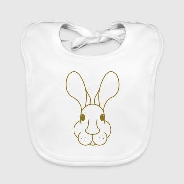Cara del conejo grande de los oídos Esquema - Babero ecológico bebé