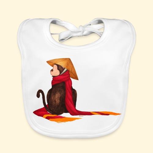 Un singe en hiver - Bavoir bio Bébé