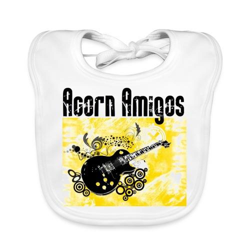 Acorn Amigos logo på jpg - Ekologisk babyhaklapp