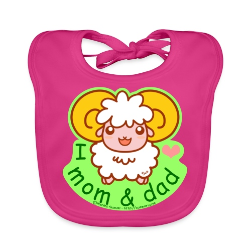 I Love Mom and Dad - Baby Organic Bib