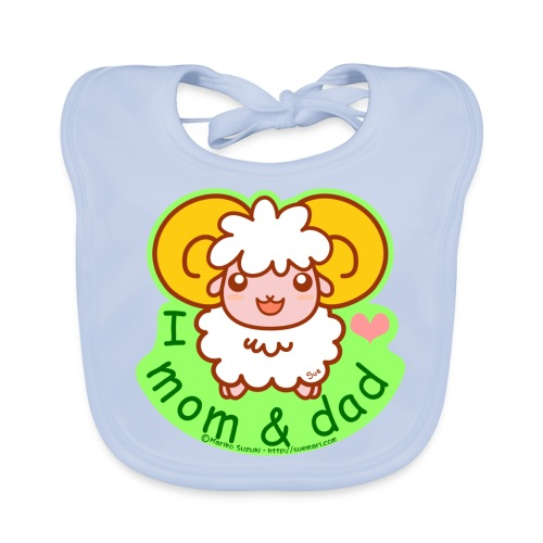 I Love Mom and Dad - Baby Organic Bib