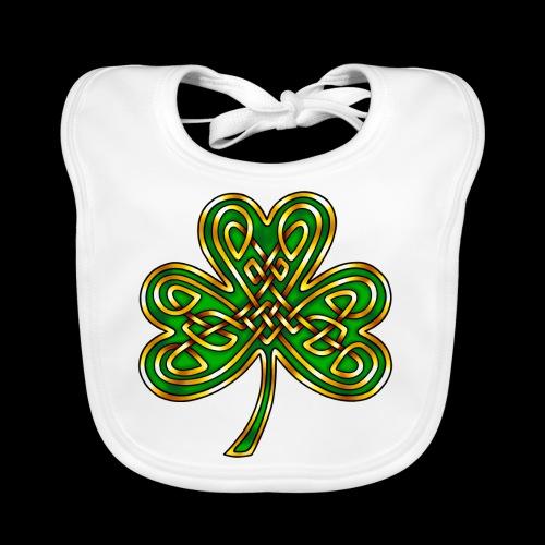 Celtic Knotwork Shamrock - Organic Baby Bibs