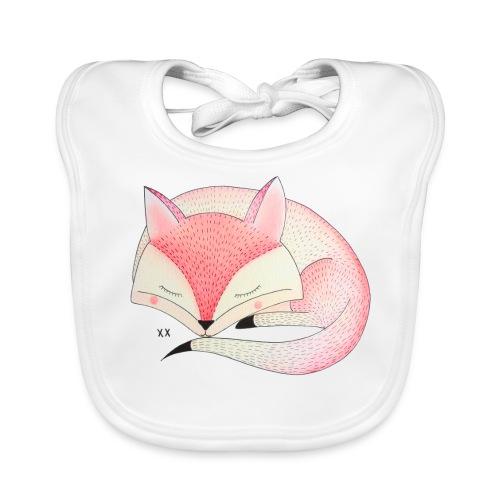 roze vos - Bio-slabbetje voor baby's