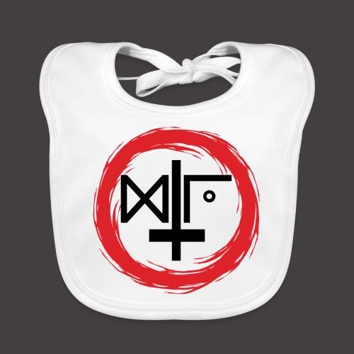 Logo Gu Croix Noir - Bavoir bio Bébé