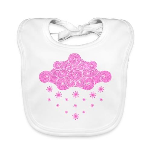 nuage rose et flocons vacances d'hiver - Bavoir bio Bébé