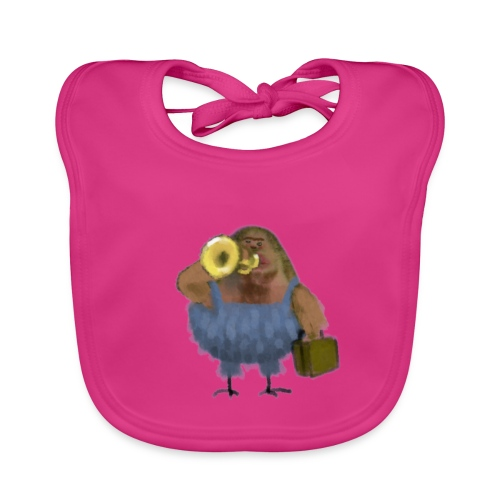 chinface bird with trumpet - Bio-slabbetje voor baby's