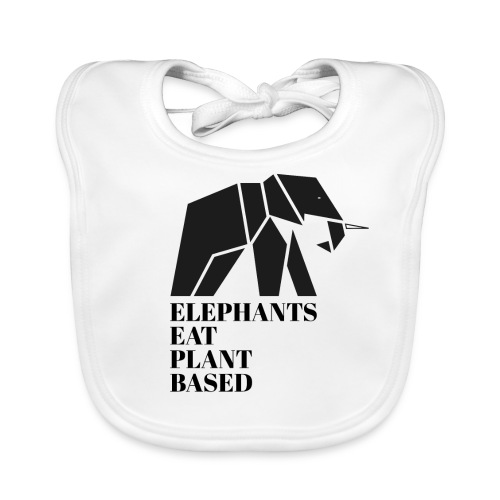 Elephants Eat Plant Based - Baby Bio-Lätzchen