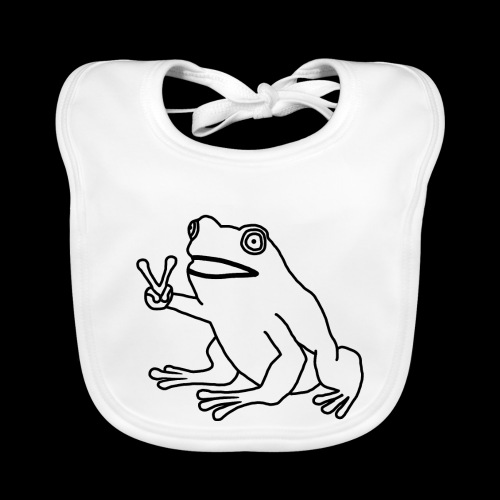 Funny Animal Frog Frosch - Baby Bio-Lätzchen
