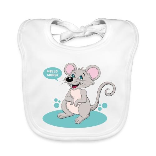 Kleine Maus als Geschenk zur Geburt - Baby Bio-Lätzchen
