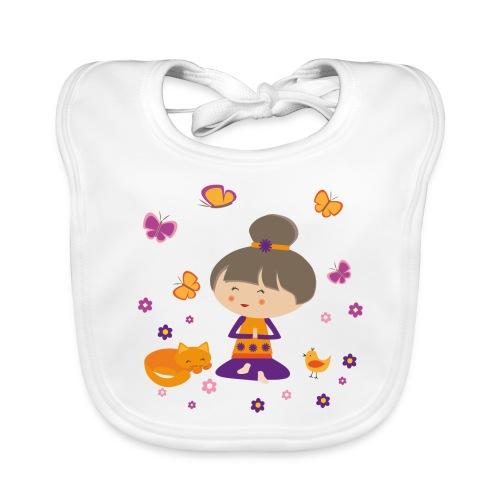 Happy Meitli - Yoga und Meditation - Baby Bio-Lätzchen