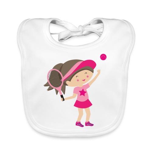 Happy Meitlis - Tennis Mädchen - Baby Bio-Lätzchen