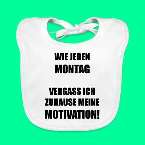 Montag Motivation Wochenende Arbeit Schule Uni Fun - Baby Bio-Lätzchen