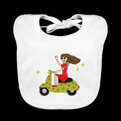 Mit dem Moped in den Sommer - Baby Bio-Lätzchen