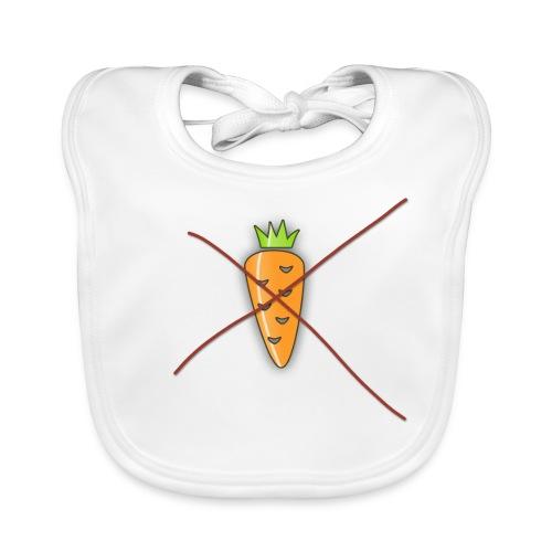 carrot print dark outline - Baby Organic Bib