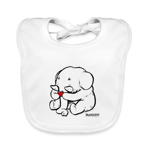 Stef 0002 00 Lesefant - Baby Bio-Lätzchen