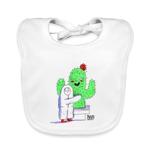 VER 0001 00 Kaktusumarmung - Baby Bio-Lätzchen