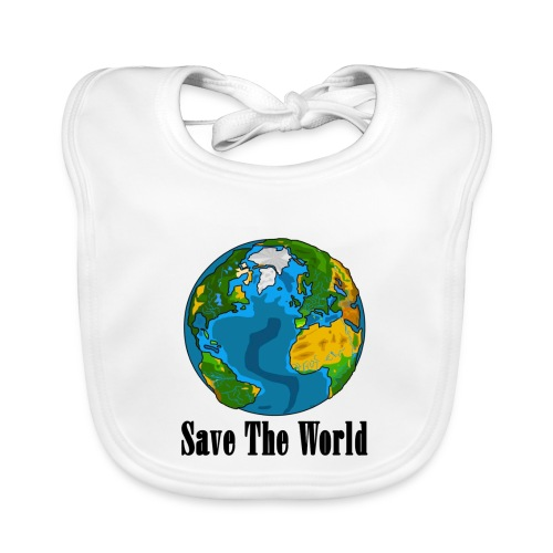 Save The World-Planet - Ekologisk babyhaklapp