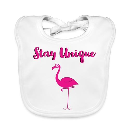 Stay Unique Flamingo - Baby Bio-Lätzchen
