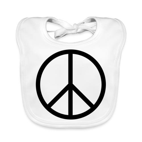 Peace Make love not war - Bio-slabbetje voor baby's