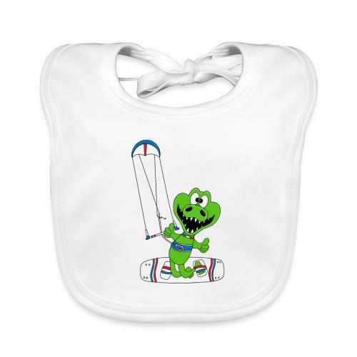 Lustiges Krokodil - Kite - Kiter - Kitesurfer - Baby Bio-Lätzchen