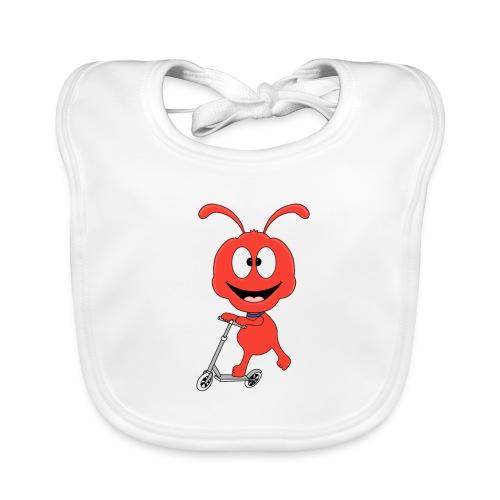 Lustige Ameise - Roller - Sport - Kind - Baby - Baby Bio-Lätzchen