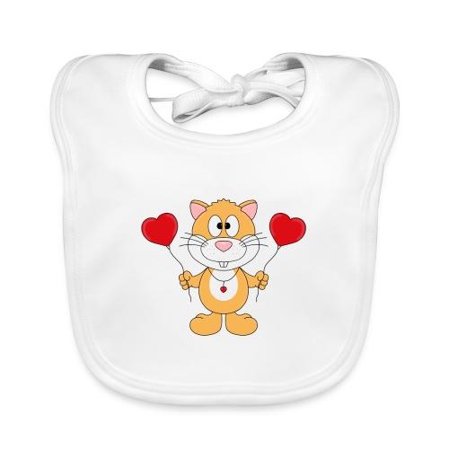 Lustiger Hamster - Herzen - Luftballons - Liebe - Baby Bio-Lätzchen