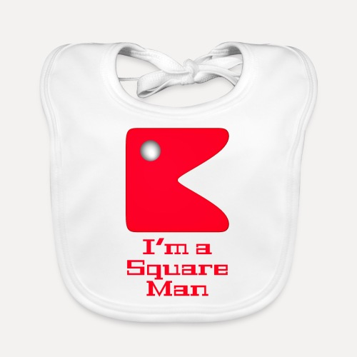 Square man red - Organic Baby Bibs